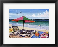 Coasting Through Framed Print