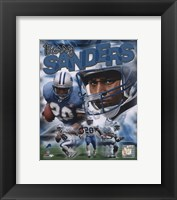 Framed Barry Sanders - Legends Composite