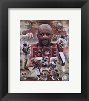 Framed Jerry Rice - Legends Composite