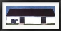 Framed White Canadian Barn, No. 2
