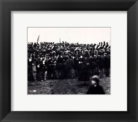 Framed Abraham Lincoln / Gettysburg Address 1863
