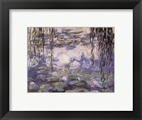 Framed Water Lilies and Willow Branches, c.1917