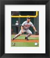 Framed Travis Hafner - 2007 Fielding Action