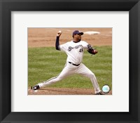 Framed Francisco Cordero - 2007 Pitching Action