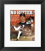 Framed Justin Verlander - 0612/07 No Hitter / Portrait Plus
