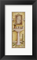 Pedestal and Toothbrush Framed Print