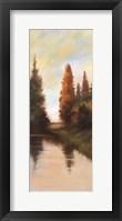 Framed Pine Tree Lake IV