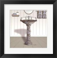 Framed Damask Sink I