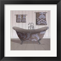 Damask Tub I Framed Print