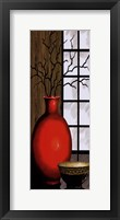 Asian Red I Panel Framed Print
