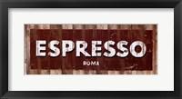 Expresso Framed Print