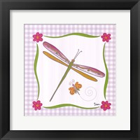 Framed Butterfly of Gingham