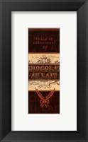 Framed Chocolat I