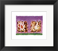 Funky Cow Framed Print