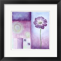 Framed Poppy Blues I