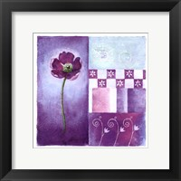 Framed Poppy Blues II