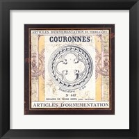Framed Couronnes