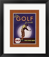 Framed Golf For Health