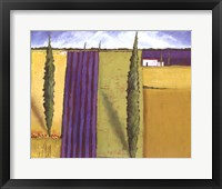 Framed Lavender Field I