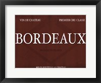 Framed Bordeaux