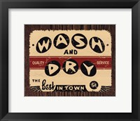 Wash and Dry Framed Print