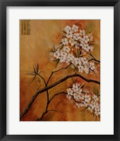 Framed Oriental Blossoms I