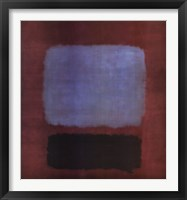 Framed No. 37/No. 19 (Slate Blue and Brown on Plum), 1958