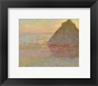 Framed Grainstack (Sunset), 1891