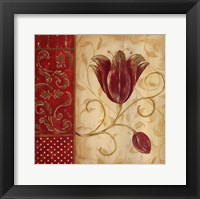 Framed Red Tulip I