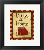 Framed Bless our Home