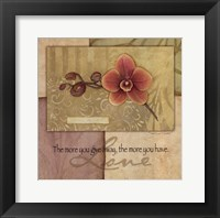 Love - Orchid Framed Print