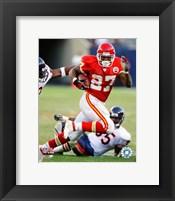 Framed Larry Johnson - 2007 Rushing Action