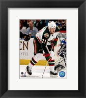 Framed Mark Parrish - 2007 Away Action