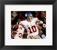 Framed Eli Manning 2007 Action