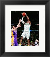 Framed Allen Iverson 2007-08 Action Shooting Hoops