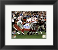 Framed Eli Manning SuperBowl XLII 2007 Scrambling Action #10