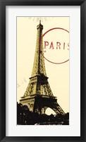 Graphic Paris Neutral Framed Print