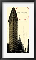 Graphic New York Neutral Framed Print