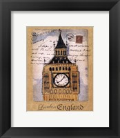 Framed Souvenir of London