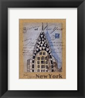 Souvenir of New York Framed Print
