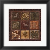 Tribal Collage I - mini Framed Print