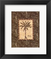 Vintage Palm IV - mini Framed Print