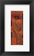 Goa Poppy Panel I - petite Framed Print