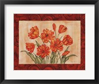 Linen Scroll Tulip Framed Print