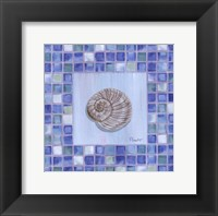 Mosaic Moonshell - mini Framed Print