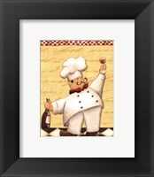 Framed Le Chef et le Vin - mini