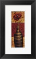 Framed Fleur sur Tuiles II - petite