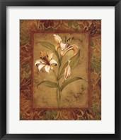 Framed Garden Lilies I