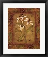 Framed Garden Lilies II