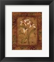 Framed Garden Lilies II - mini